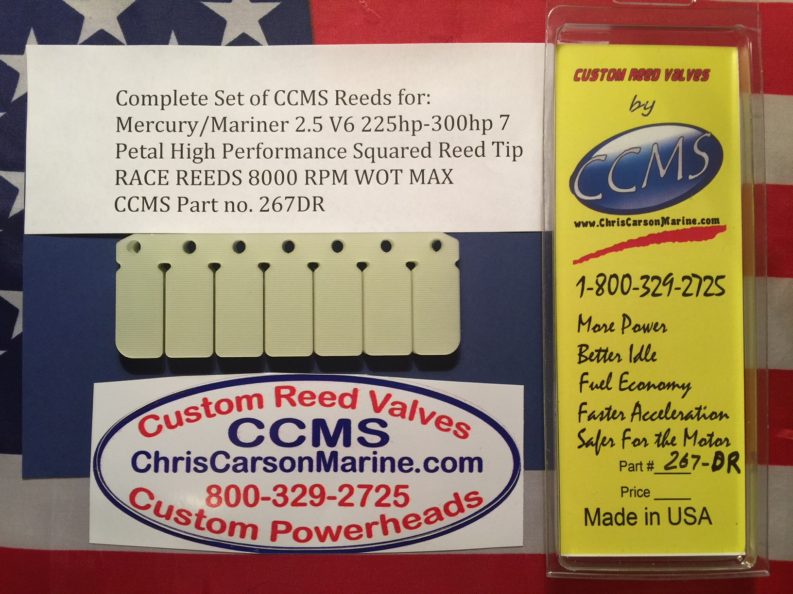 Ccms Mercury Mariner Race 2 5 V6 225 300hp 7 Petal Squared Tips Pn 267dr Chris Carson Marine Service And Supply