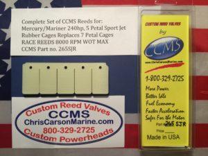 CCMS Mercury//Mariner Race Reed Valve 135-175hp V6 2.5 Liter OPTIMAX PN.264OPR